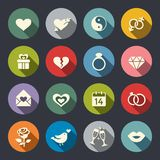 Love theme icon set Royalty Free Stock Images