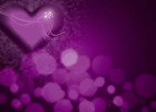 Love theme pink banner Stock Image