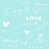 Love theme sketch Royalty Free Stock Images