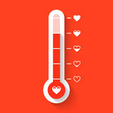 Love thermometer Stock Images