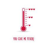Love thermometer. You give me fever card Royalty Free Stock Image
