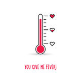 Love thermometer. You give me fever illustration Royalty Free Stock Images