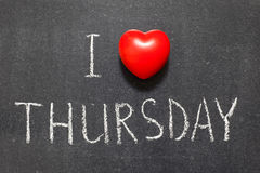 Love Thursday Royalty Free Stock Photography