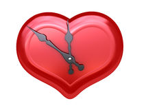 Love time. Red heart on white background (3D, for printing and WEB Stock Photos