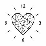 Love Time. Isolated object. No transparency and gradients used vector illustration