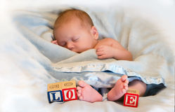 Love tiny feet Royalty Free Stock Photos