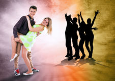 We love to dance all time royalty free stock image