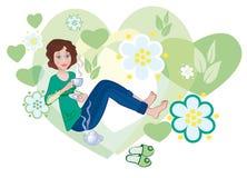 Love to green tea Stock Photography