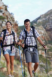 They love to hike together Royalty Free Stock Photos