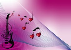 Love to music Stock Images