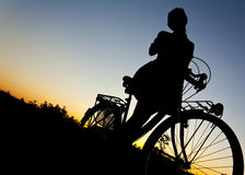 Love to ride my bike Royalty Free Stock Photo