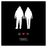 We love to travel3 Stock Images