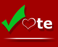Love to vote. Royalty Free Stock Photo