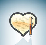 Love to Write Letters Stock Image