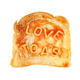 Love on toast Stock Photography