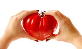 Love tomato Heart . Stock Photo