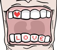 Love tooth Stock Photo