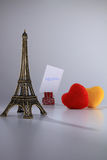Love And Tower. Tower and love with message board Royalty Free Stock Photo
