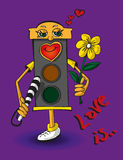 Love traffic light Stock Photos