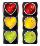 Love traffic lights Royalty Free Stock Photo