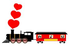 Love train Stock Photography