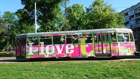 Love tram stock photo