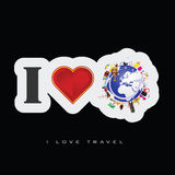 Love travel icon art illustration Royalty Free Stock Image