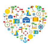Love of travel. Travel icons. Royalty Free Stock Photography