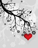 Love tree. Collection abstract a backgrounds - silver flowers Stock Photo