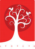 Love tree. Greeting card for valentine's day Stock Image