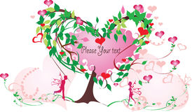 Love tree. Symbol of powerful love is a tree with beloved themselves Stock Images