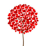 Love tree. With red hearts. Vector illustration or jpg Stock Photography