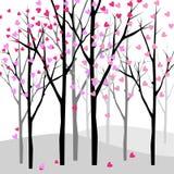 Love tree. Abstract love tree illustration vector Royalty Free Stock Photography