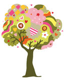 Love Tree. Whimsical tree of love that grows hearts as fruits Royalty Free Stock Images