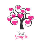 Love tree. Stylized illustration of a tree & hearts on it. Also in Vector EPS10 format Stock Photos