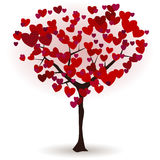 Love tree. With hearts instead of foliage Royalty Free Stock Image
