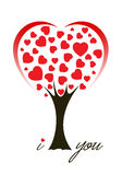 Love Tree. This image is a vector file representing a Tree made from hearts,  all the elements can be scaled to any size without loss of resolution Stock Photo