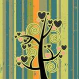Love tree. Retro beautiful illustration love tree vector illustration