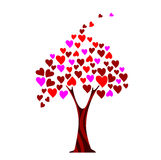Love tree. Valentine card design vector illustration