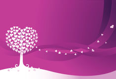 Love Tree. A Tree with heart shape leaf Royalty Free Stock Images