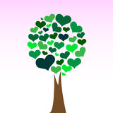 Love tree. Vector illustration of a tree made by hearts Stock Image