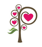 Love tree. Abstract love tree. Vector symbol vector illustration