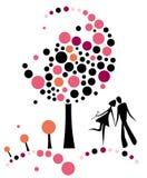 Love tree. Design vector illustration Stock Photo