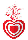 Love tree. A love tree plant on the red heart Stock Photo