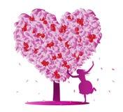 Love tree. Abstract love tree.vector illustration vector illustration