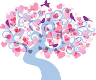 Love tree background. vector illustration Royalty Free Stock Photo