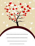 Love tree with copy space for your text. Royalty Free Stock Photos