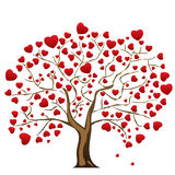Love tree with heart leaves Stock Photography