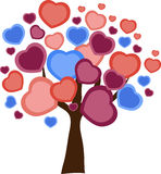 Love tree with heart leaves Stock Images