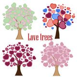 Love tree with heart leaves Stock Photo